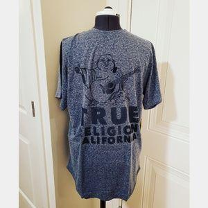 NWT True Religion Buddha Tee Heather Blue